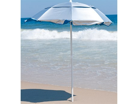 Frankford Solar Reflective Fiberglass White 6' Foot Wide Octagon Manual Tilt Umbrella PatioLiving
