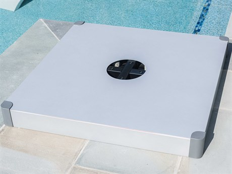 Frankford Aurora Aluminum Silver Mist Modular Free Standing Base Cover PatioLiving