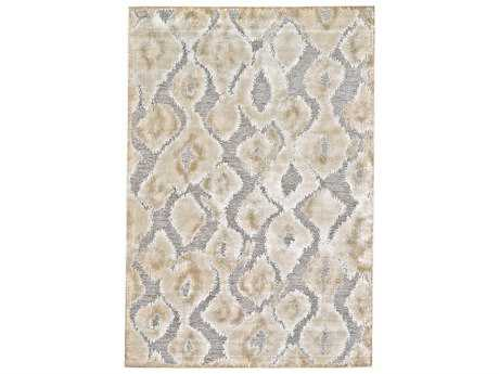 Feizy Saphir Zam Rectangular Pewter & Gray Area Rug