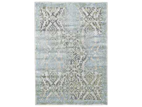 Feizy Katari Rectangular Ice & Birch Area Rug