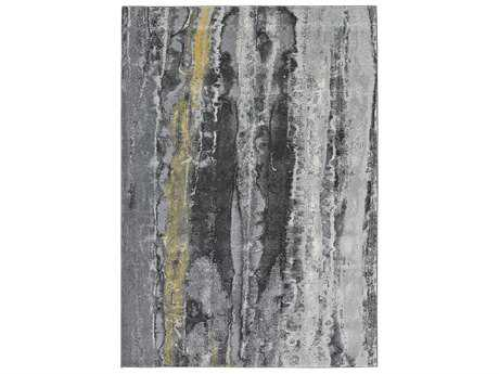 Feizy Bleecker Rectangular Asphalt Area Rug