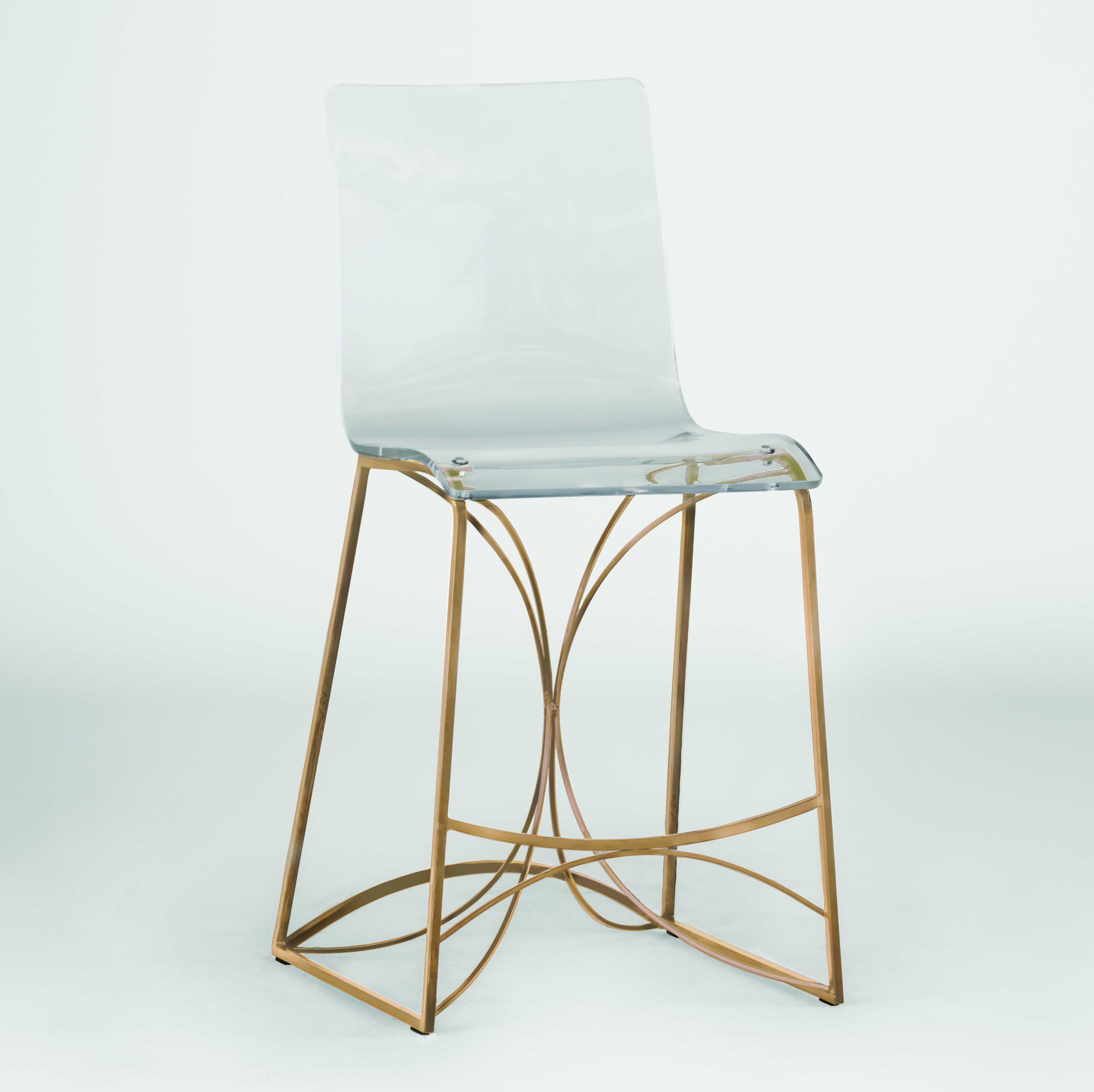 Gabby Angela Antique Gold Amp Clear Acrylic Counter Stool