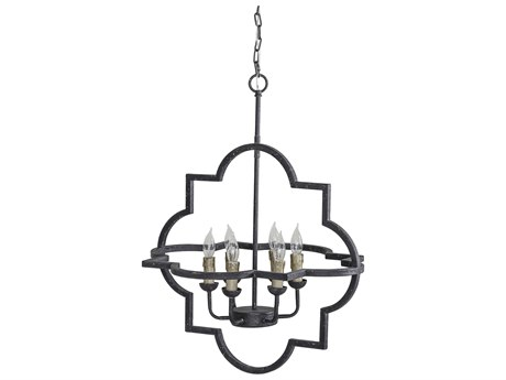 Gabby Athena Black Rust Six-Light 24'' Wide Chandelier