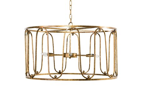 Gabby Harvey Antique Gold Six-Light 32'' Wide Chandelier