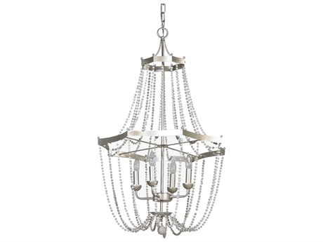 Gabby Warren Vintage Silver & Gray Owl Four-Light 24'' Wide Chandelier