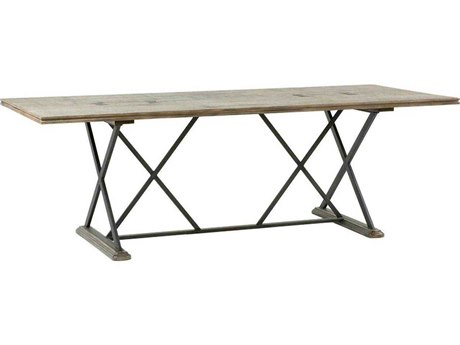 Gabby Home Taro Dark Charcoal Oak / Aged Black 92'' Wide Rectangular Dining Table
