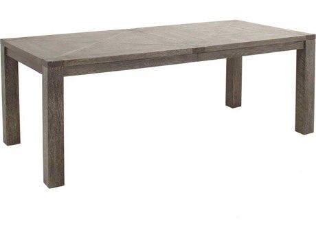 Gabby Beckett Dark Gray Cerused Oak & Hammered Dark Bronze 84''W x 39''D Rectangular Dining Table