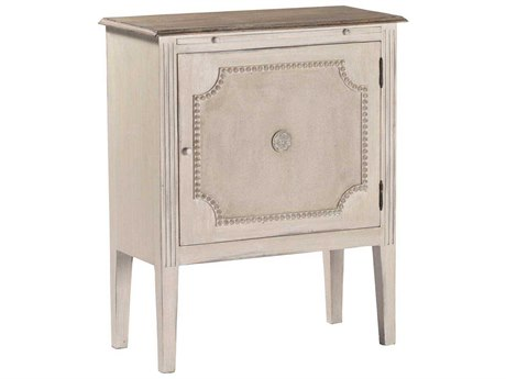 Gabby Landry Antique White & Natural Lime 26''W x 13''D Rectangular Nightstand