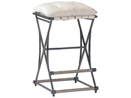 Gabby Frederick Soft Chamois & Aged Black Counter Stool