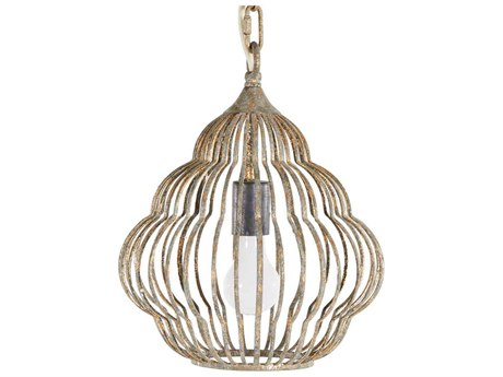 Gabby Nathaniel Antique Gold 11'' Wide Mini Pendant Light