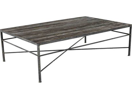 Gabby Isabelle Untouched Wood & Grey Rust 55''W x 35''D Rectangular Coffee Table