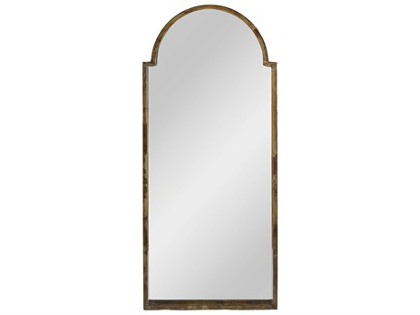 Gabby Barry Brown Vellum & Black Lacquer 24''W x 54''H Floor Mirror