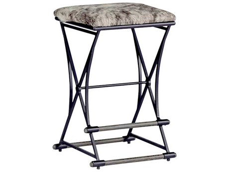 Gabby Shields Cowhide & Black Counter Stool