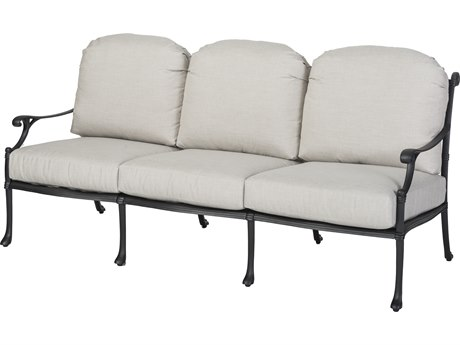 Gensun Michigan Cast Aluminum Cushion Sofa - Knock Down