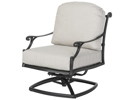 Gensun Michigan Cast Aluminum Cushion Swivel Rocking Lounge Chair - Welded