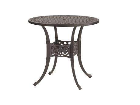 GenSun Michigan Cast Aluminum 32 Round Dining Table with Umbrella Hole