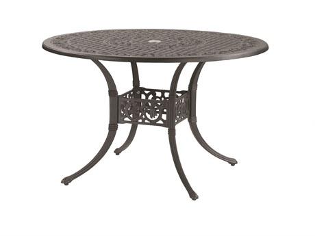 GenSun Michigan Cast Aluminum 48 Round Dining Table with Umbrella Hole
