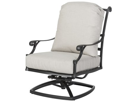 Gensun Michigan Cast Aluminum Cushion High Back Swivel Rocking Lounge Chair - Welded