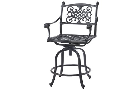 GenSun Michigan Cast Aluminum Cushion Swivel Balcony Stool - Welded