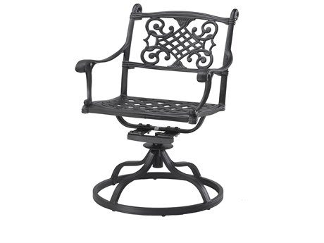 GenSun Michigan Cast Aluminum Cushion Swivel Rocker - Welded