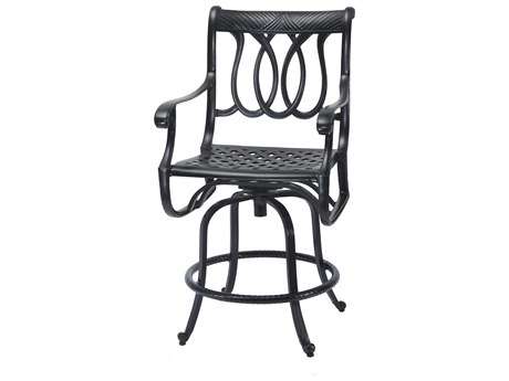 GenSun Largo Cast Aluminum Cushion Swivel Balcony Stool