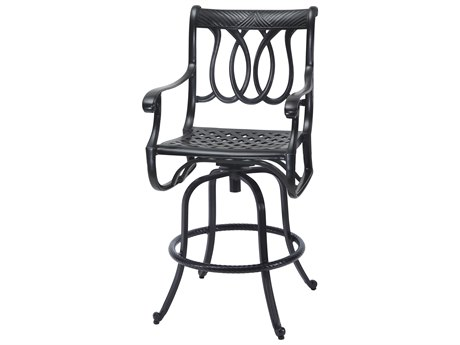 Gensun Largo Cast Aluminum Cushion Swivel Bar Stool