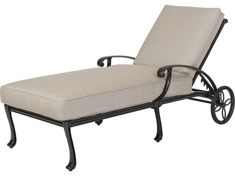 Gensun Largo Cast Aluminum Cushion Chaise Lounge