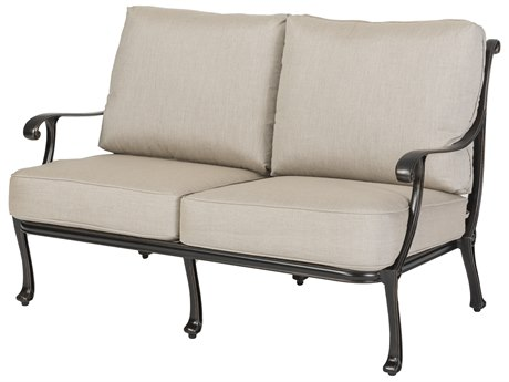 GenSun Largo Cast Aluminum Cushion Loveseat