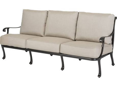 Gensun Largo Cast Aluminum Cushion Sofa