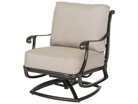 Gensun Largo Cast Aluminum Cushion Swivel Rocking Lounge Chair