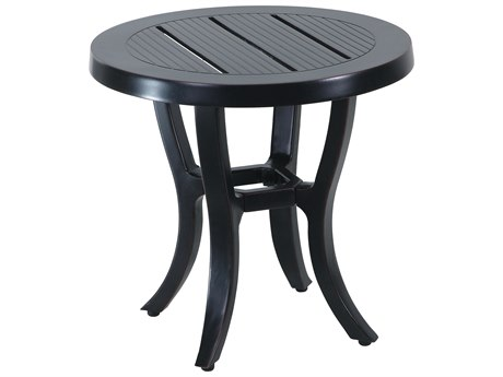 Gensun Channel Aluminum 44 Round Balcony Table