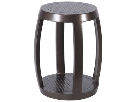 Gensun Cast Aluminum Channel Stool and End Table