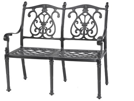 Gensun Florence Cast Aluminum Cushion Bench