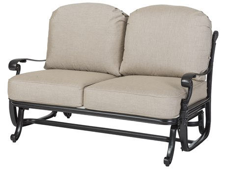 GenSun Florence Cast Aluminum Cushion Loveseat Glider