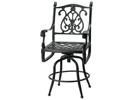 GenSun Florence Cast Aluminum Cushion Swivel Balcony Stool