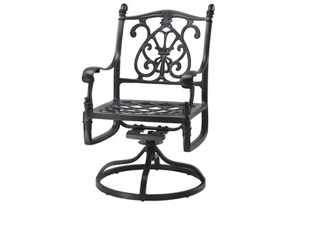 GenSun Florence Cast Aluminum Cushion Swivel Rocker