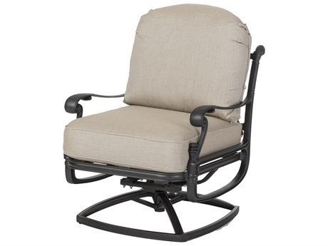 Gensun Florence Cast Aluminum Cushion Swivel Rocking Lounge Chair