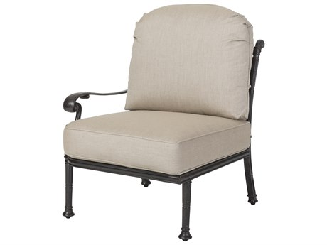 Gensun Florence Cast Aluminum Cushion Right Arm Lounge Chair PatioLiving