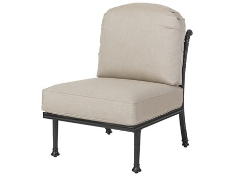 Gensun Florence Cast Aluminum Cushion Armless Lounge Chair PatioLiving