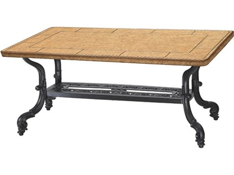 GenSun Florence Cast Aluminum 44 x 24 Rectangular Coffee Table Base