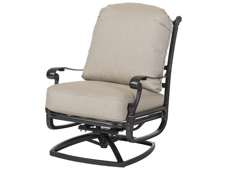 Gensun Florence Cast Aluminum Cushion High Back Swivel Rocking Lounge Chair
