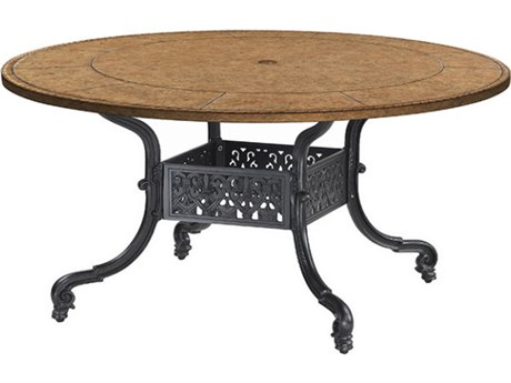 GenSun Florence Cast Aluminum 54 Round Dining Table Base