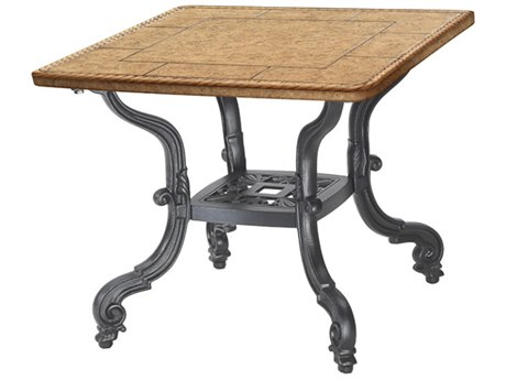 GenSun Florence Cast Aluminum 24 Square End Table Base