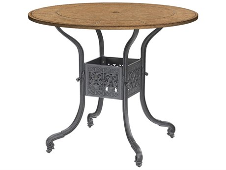 GenSun Florence Cast Aluminum 48 Round Bar Table Base