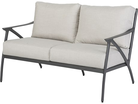Gensun Amari Cushion Aluminum Carbon Loveseat PatioLiving