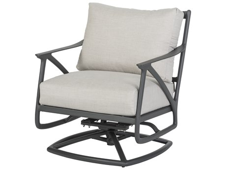 Gensun Amari Aluminum Csuhion Swivel Rocking Lounge Chair