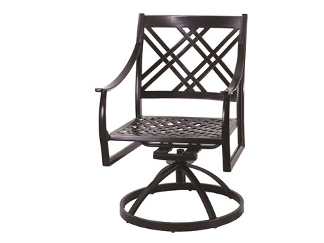 Gensun Edge Aluminum Cushion Dining Chair PatioLiving