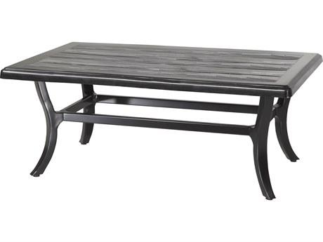 GenSun Lattice Aluminum 44 x 27 Rectangular Coffee Table