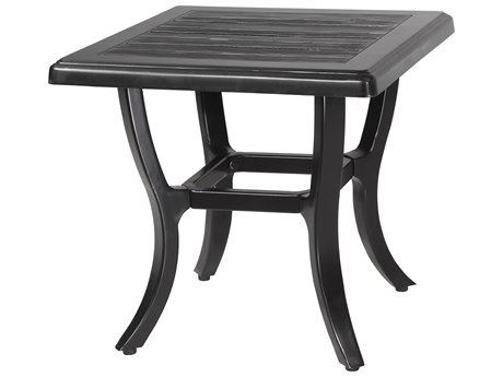 GenSun Lattice Cast Aluminum 22 Square End Table