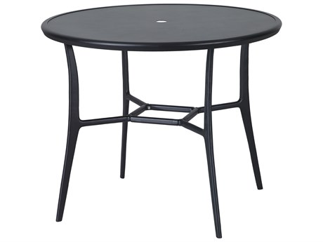 Gensun Fusion 48''Wide Round with Aluminum Top Bar Table with Umbrella Hole